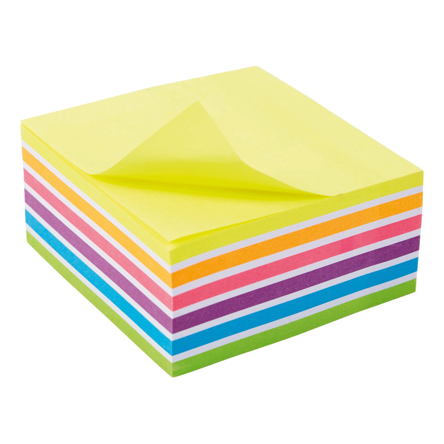 Self adhesive note paper 5 Star Office Re-Move Sticky Notes Rainbow Cube 76x76mm 6 Bright Colours 400 Sheets