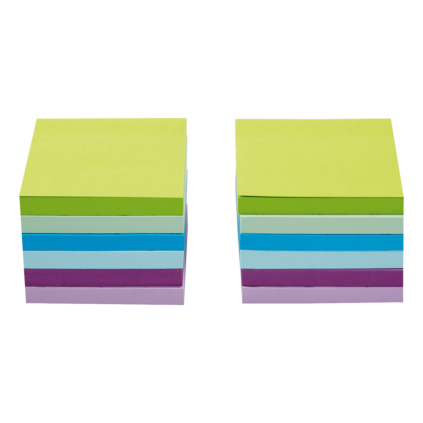 5 Star Office Re-Move Sticky Notes 76x76mm 6 Neon/Pastel Colours 100 Sheets per Pad Pack of 12