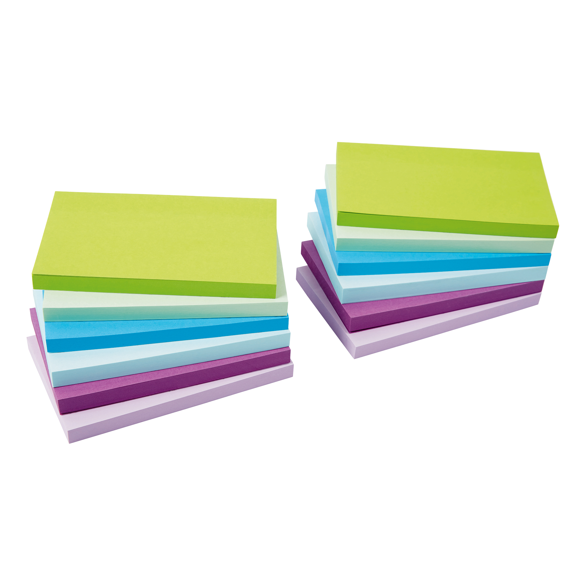 Coloured 5 Star Office Re-Move Sticky Notes 76x127mm 6 Neon/Pastel Colours 100 Sheets per Pad Pack of 12
