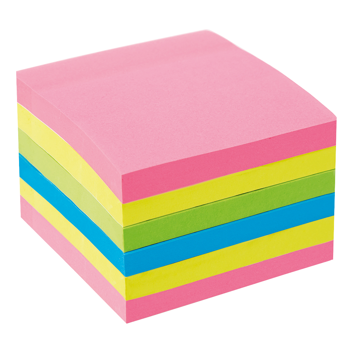 5 Star Office Extra Sticky Re-Move Notes Pad of 90 Sheets 76x76mm 4 Assorted Neon Colours Pack 6