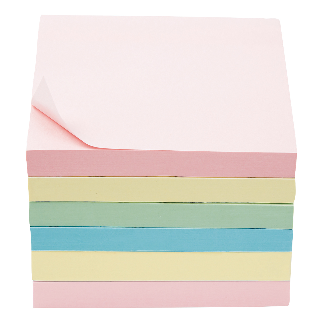 Coloured 5 Star Office Extra Sticky Re-Move Notes Pad of 90 Sheets 76x76mm 4 Assorted Pastel Colours [Pack 6]