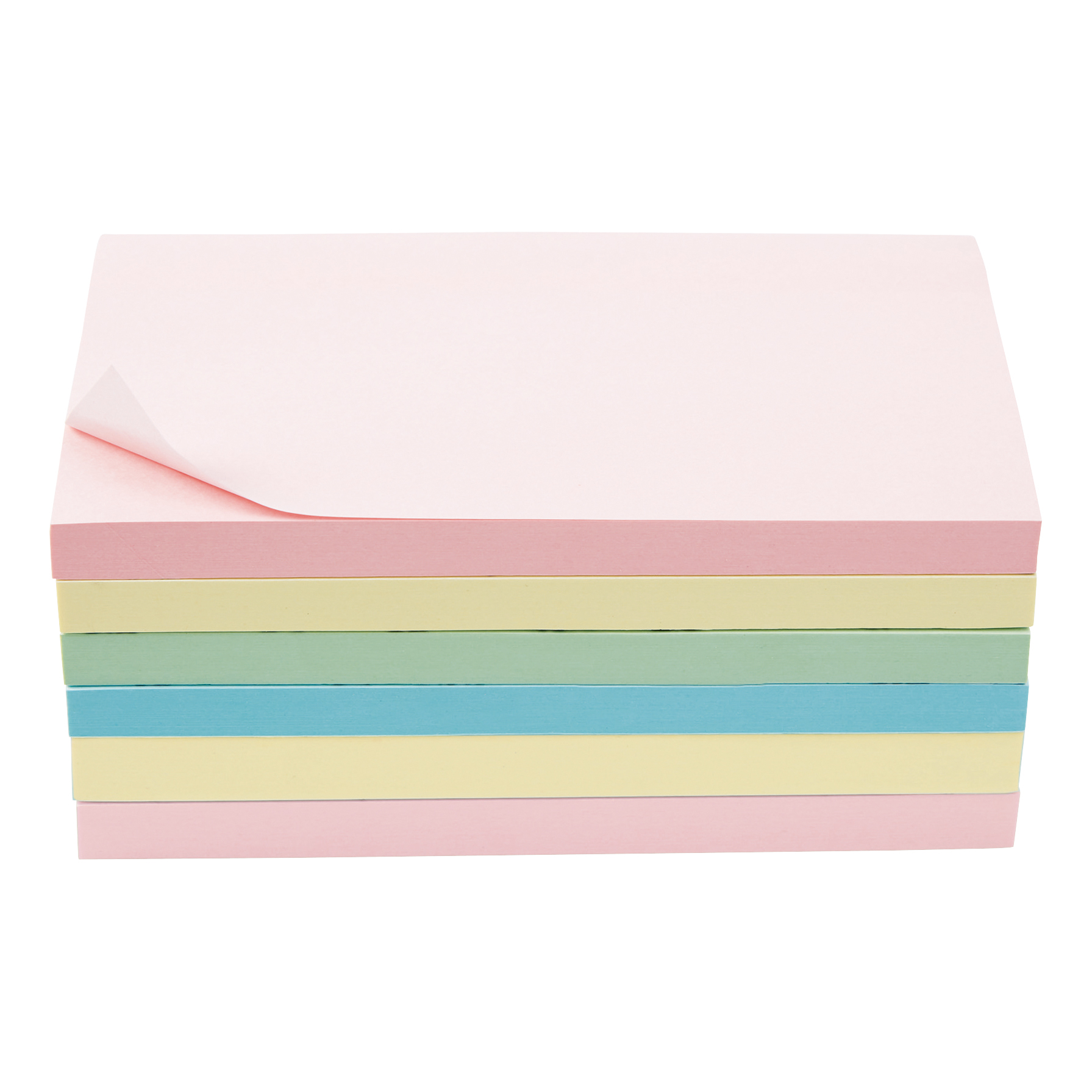Coloured 5 Star Office Extra Sticky Re-Move Notes Pad of 90 Sheets 76x127mm 4 Assorted Pastel Colours [Pack 6]