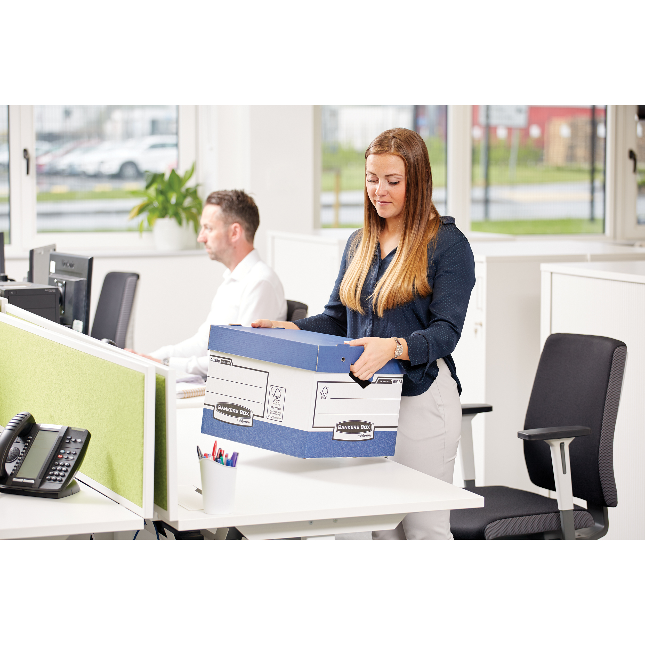Bankers Box by Fellowes Ergo Stor Maxi FastFold FSC Ref 48901 [Pack 10]