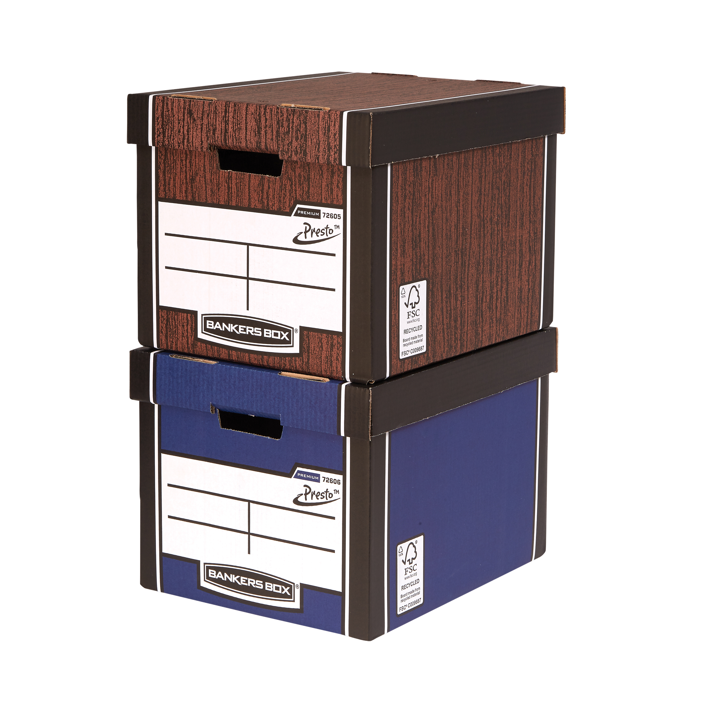 Storage Boxes Bankers Box FSC Premium Storage Box (Presto) Tall Blue Ref 7260603 Pack 12 12 for the price of 10