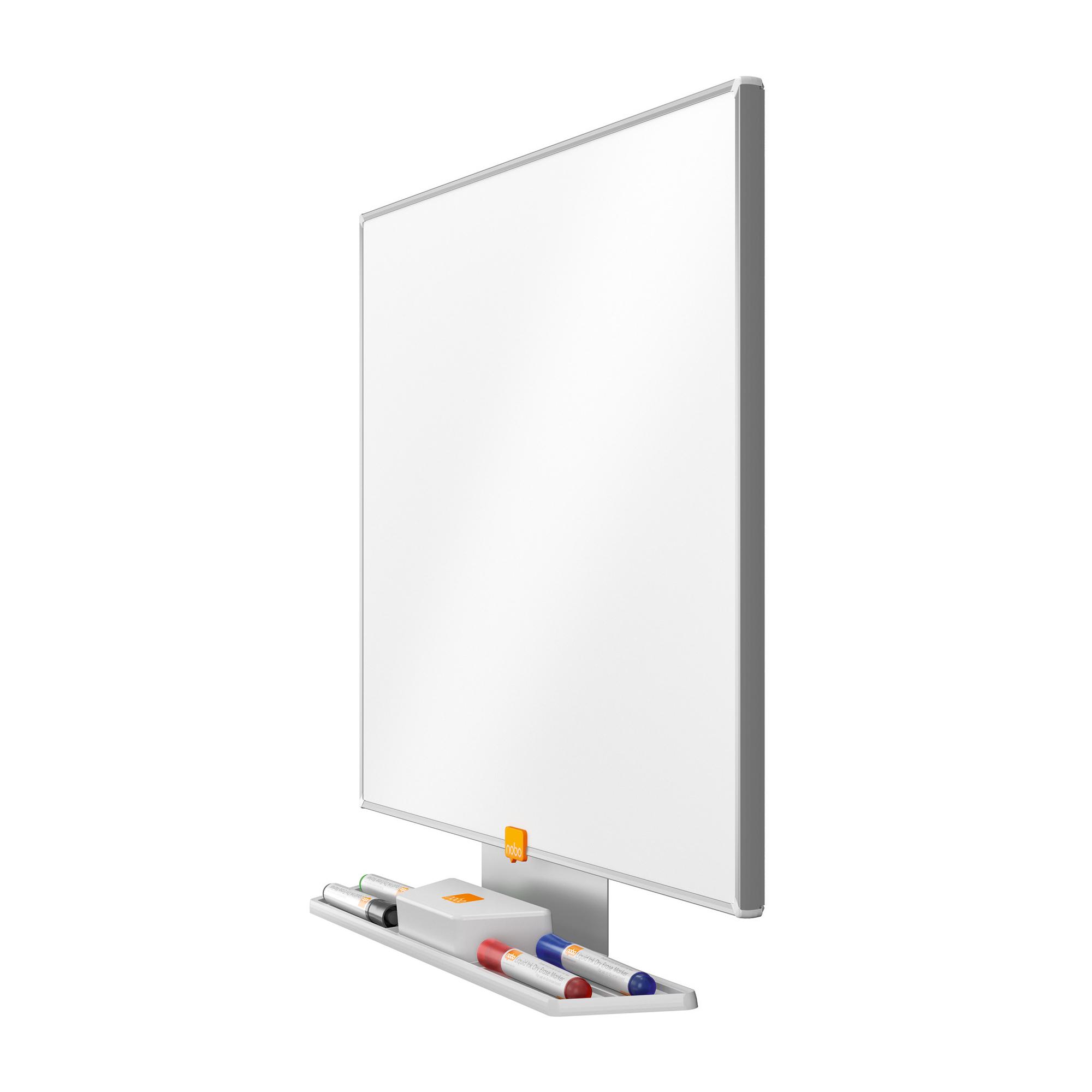 Nobo Classic Nano Drywipe Board Magnetic Steel with Fixings Slim Frame W600xH450mm White Ref 1902641