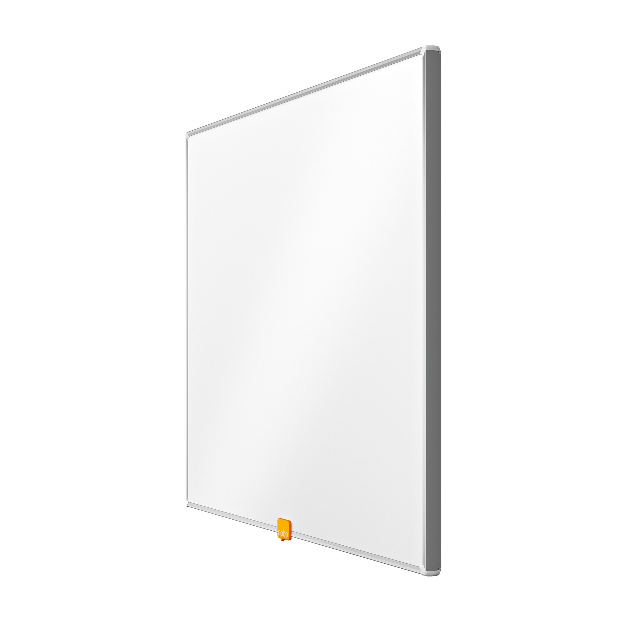 Nobo Classic Nano Drywipe Board Magnetic Steel with Fixings Slim Frame W600xH450mm White Ref 1902641