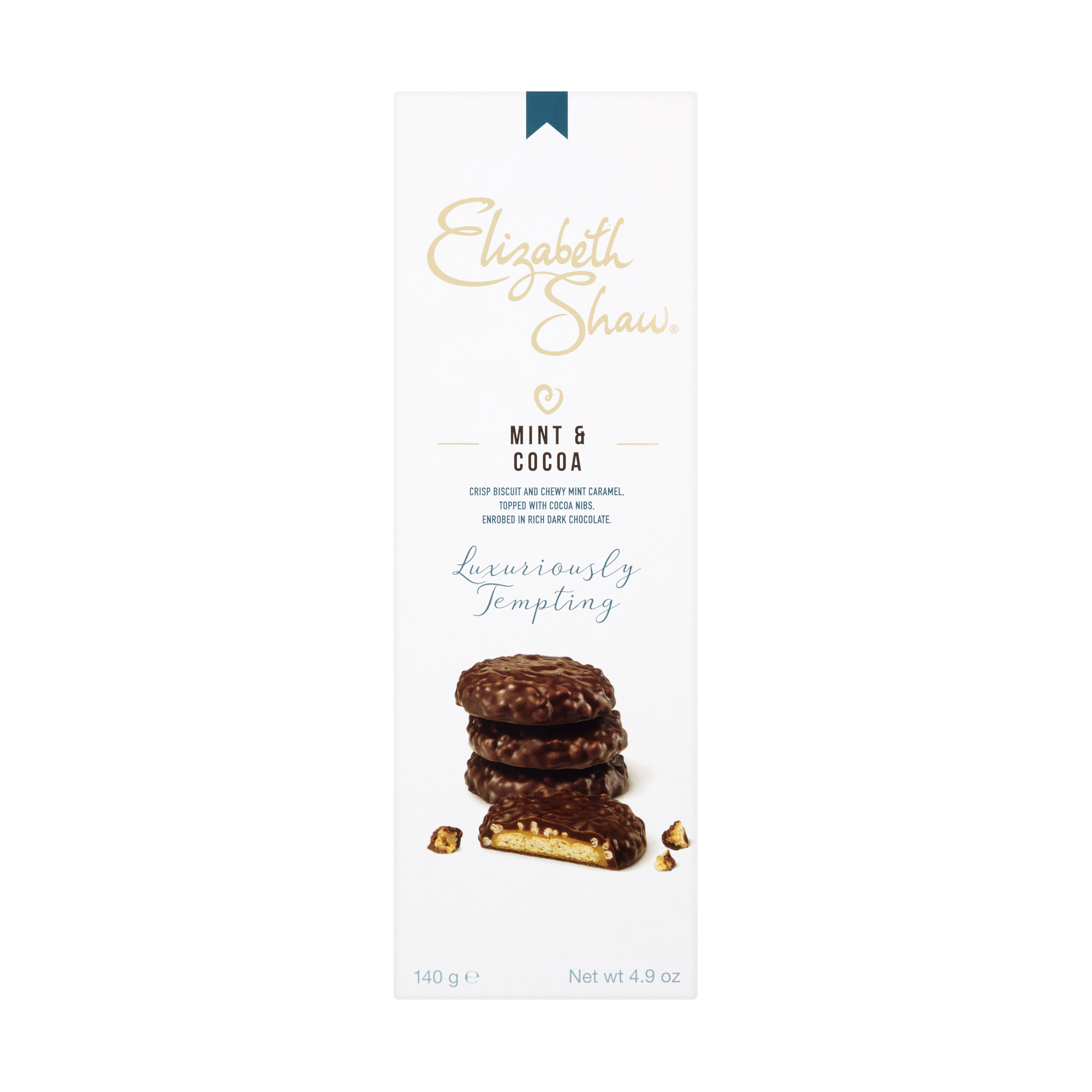 Natural sugars or sweetening products Elizabeth Shaw Mint & Cocoa Luxury Biscuits 140g Ref G1004