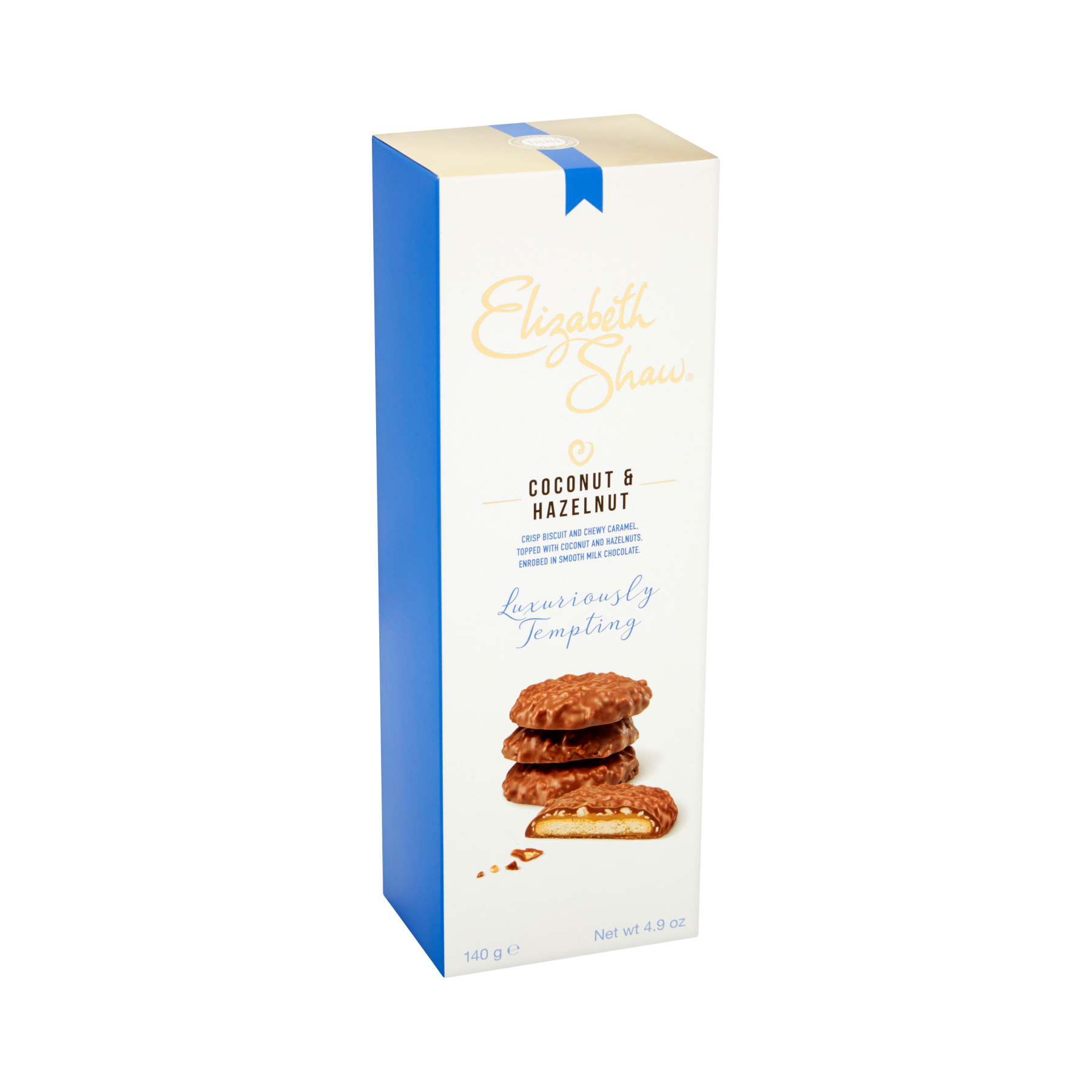 Natural sugars or sweetening products Elizabeth Shaw Coconut & Hazel Luxury Biscuits 140g Ref G1003