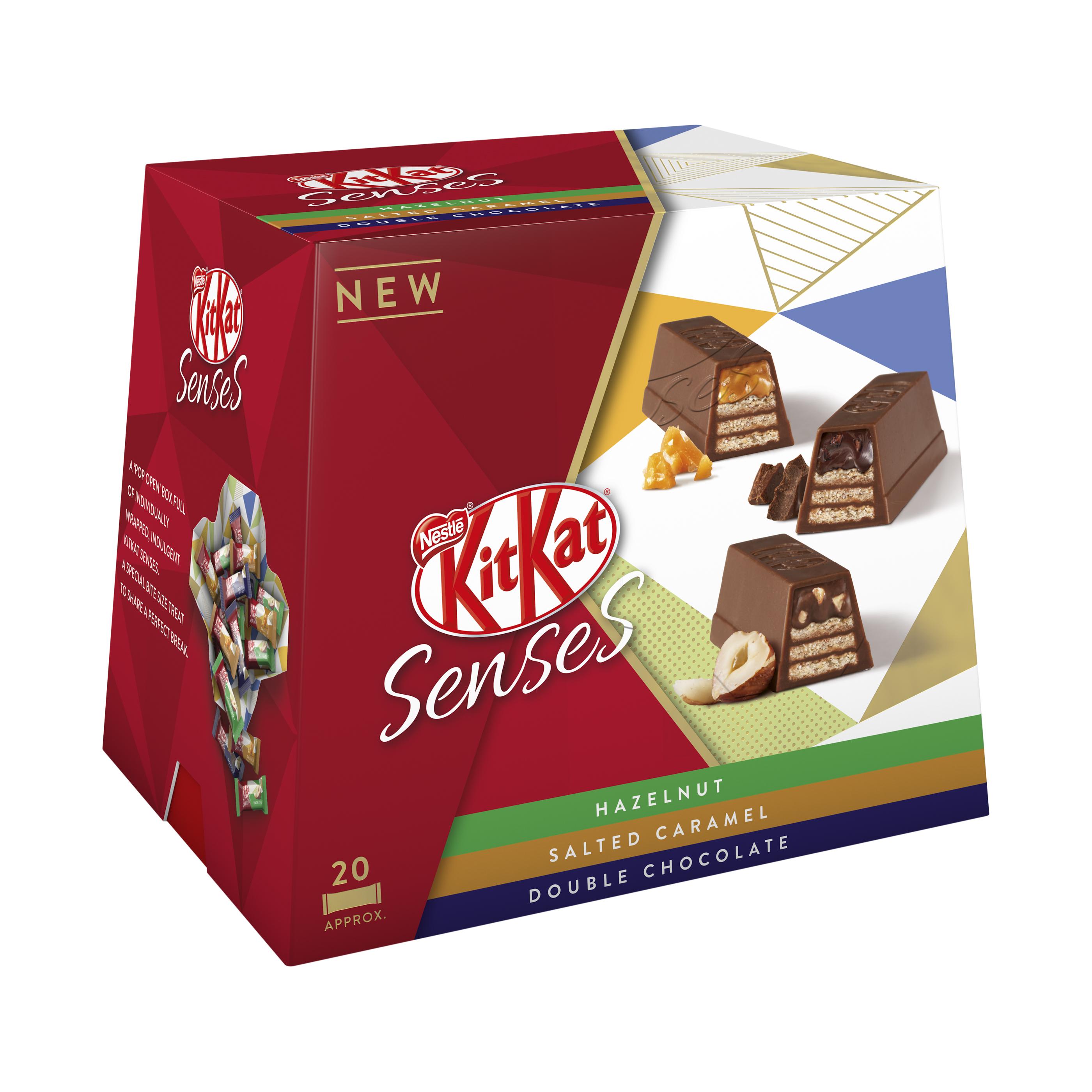 Biscuits Nestle Kit Kat Senses Assorted Box 20 Bite Size Pieces 200g Ref 12351140