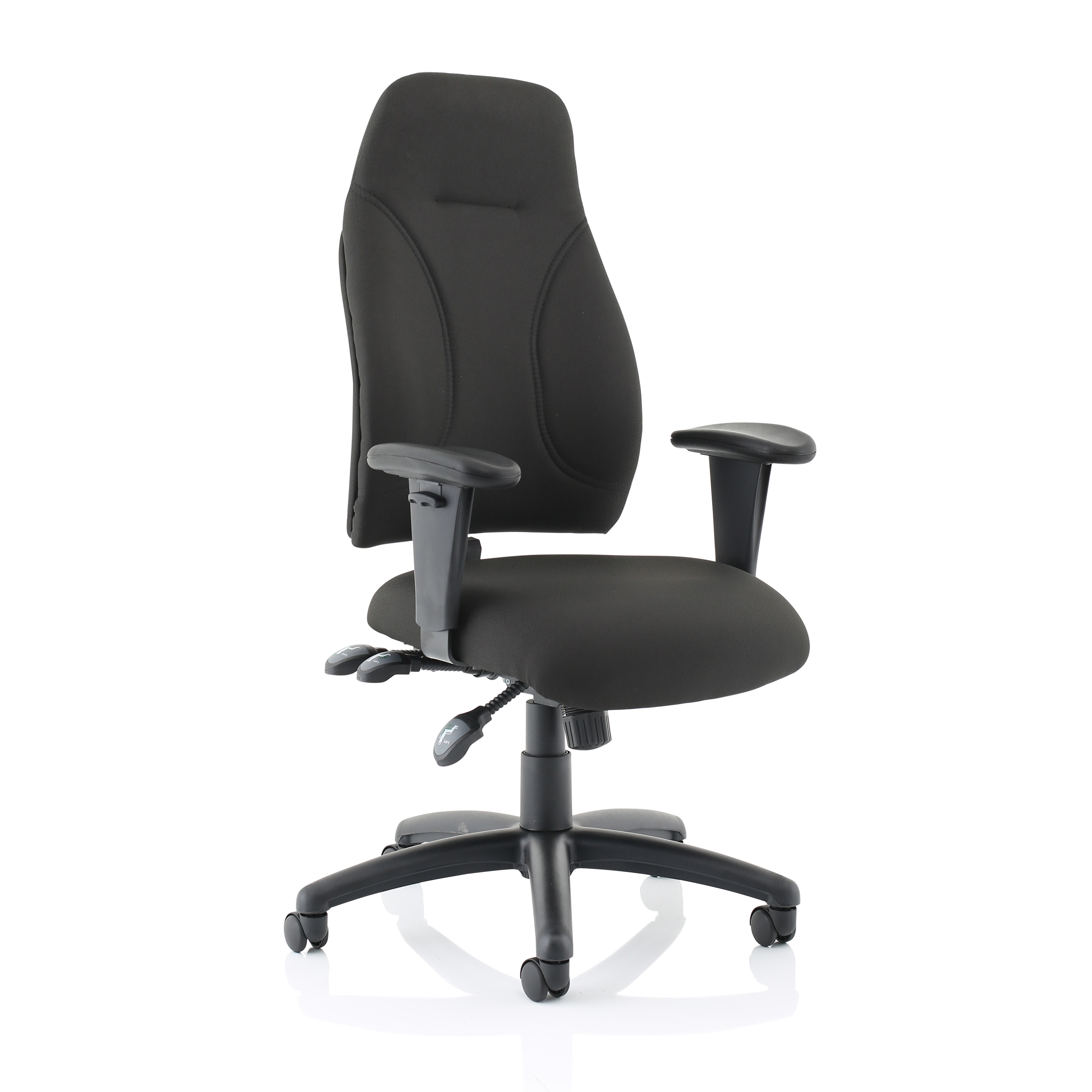 Task seating Trexus Posture High Back Asynchronous Chair Black 500x500x420-530mm Ref SP413845