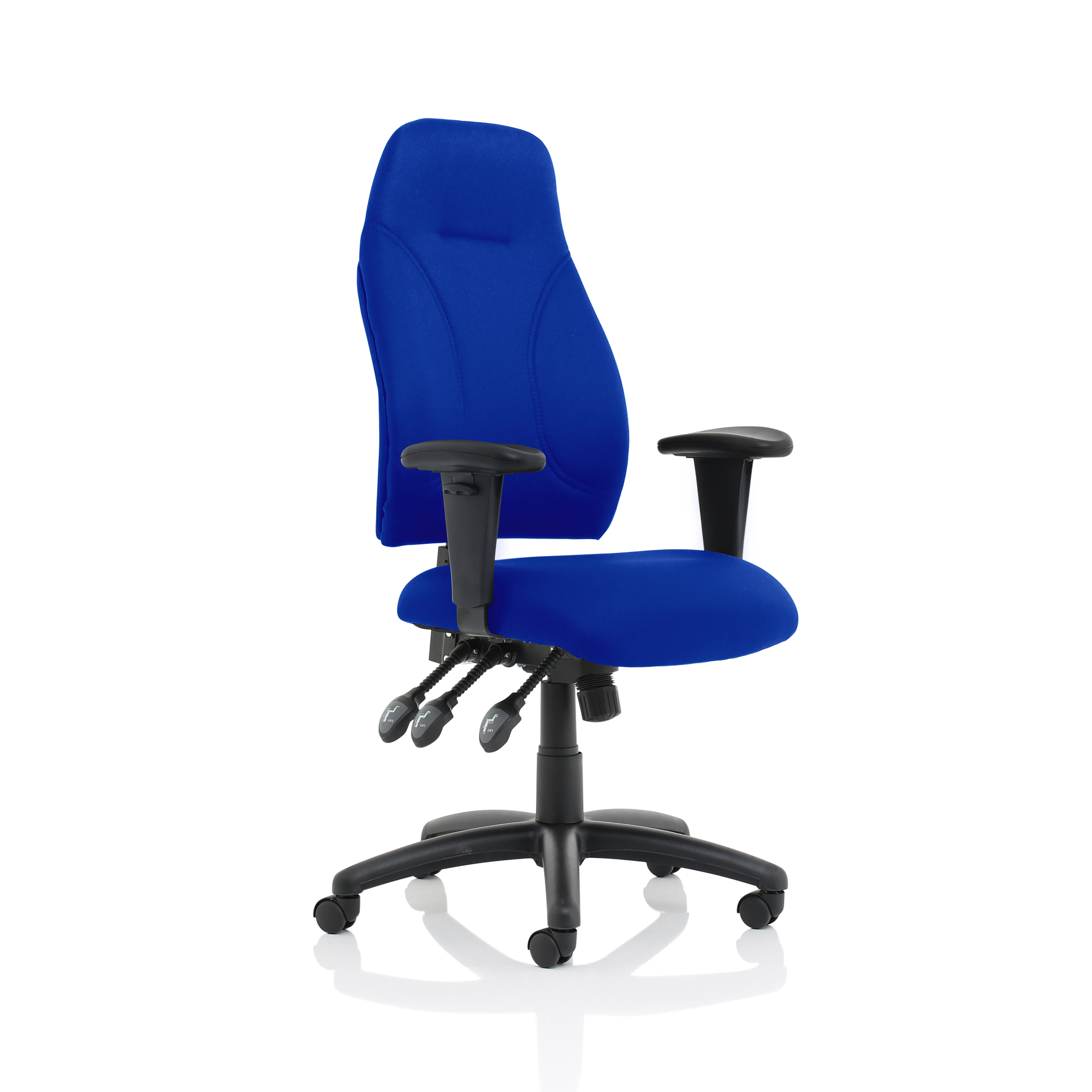Task seating Trexus Posture High Back Asynchronous Chair Blue 500x500x420-530mm Ref SP413853
