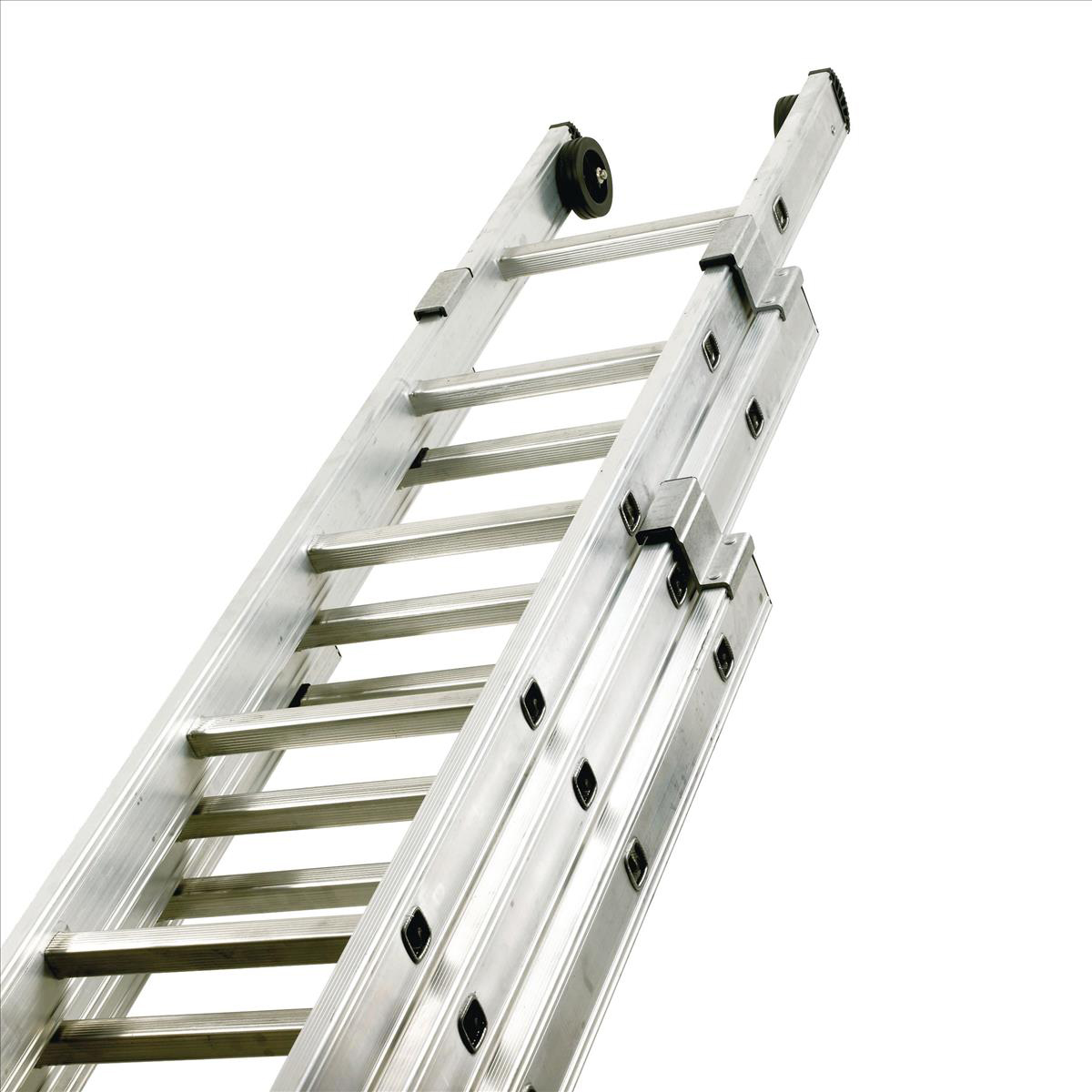 Steps Aluminium Push Up Ladder 3 Section x 12 Rungs Capacity 150kg