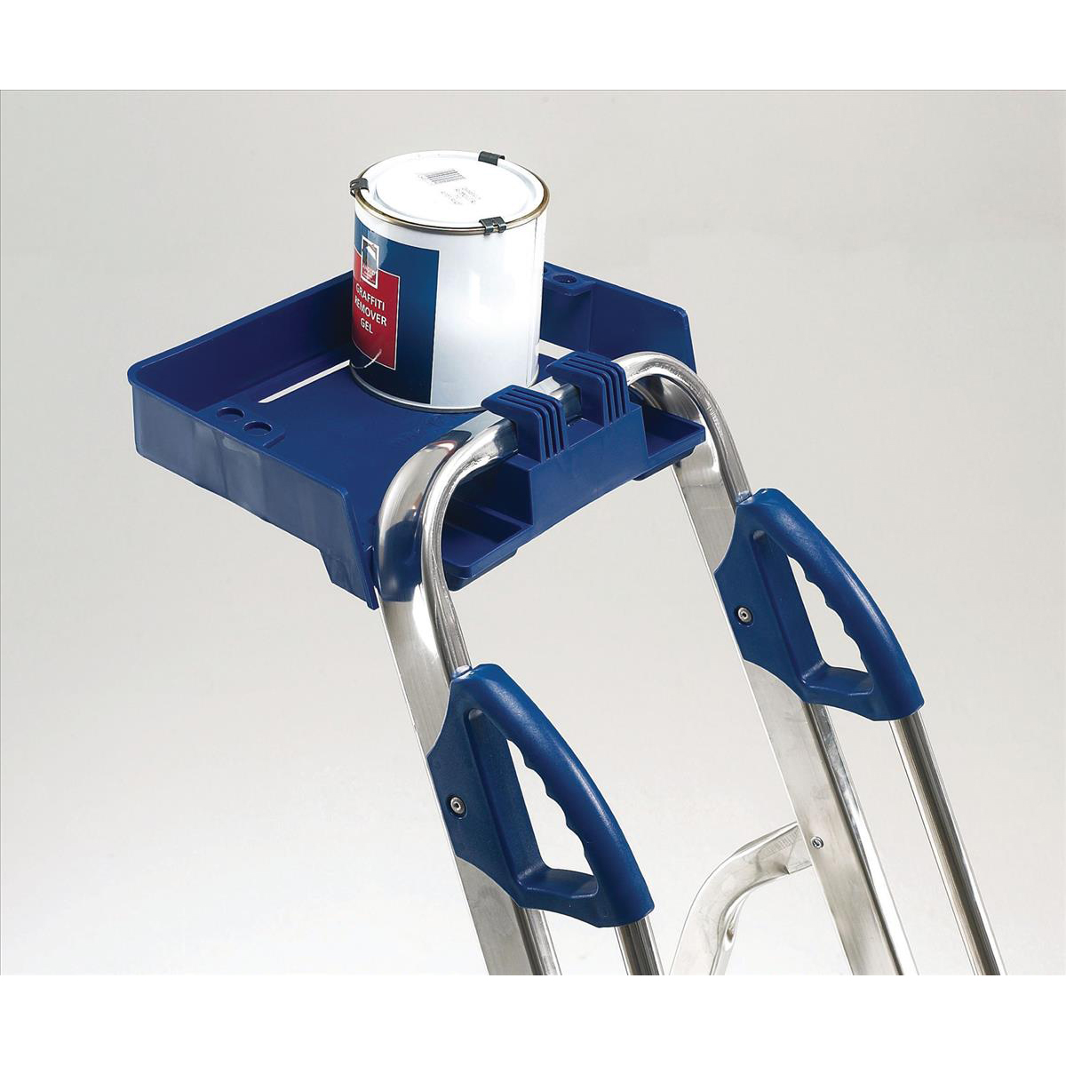 Tradesman Platform Step Ladder 7 Steps Capacity 150kg Silver/Blue