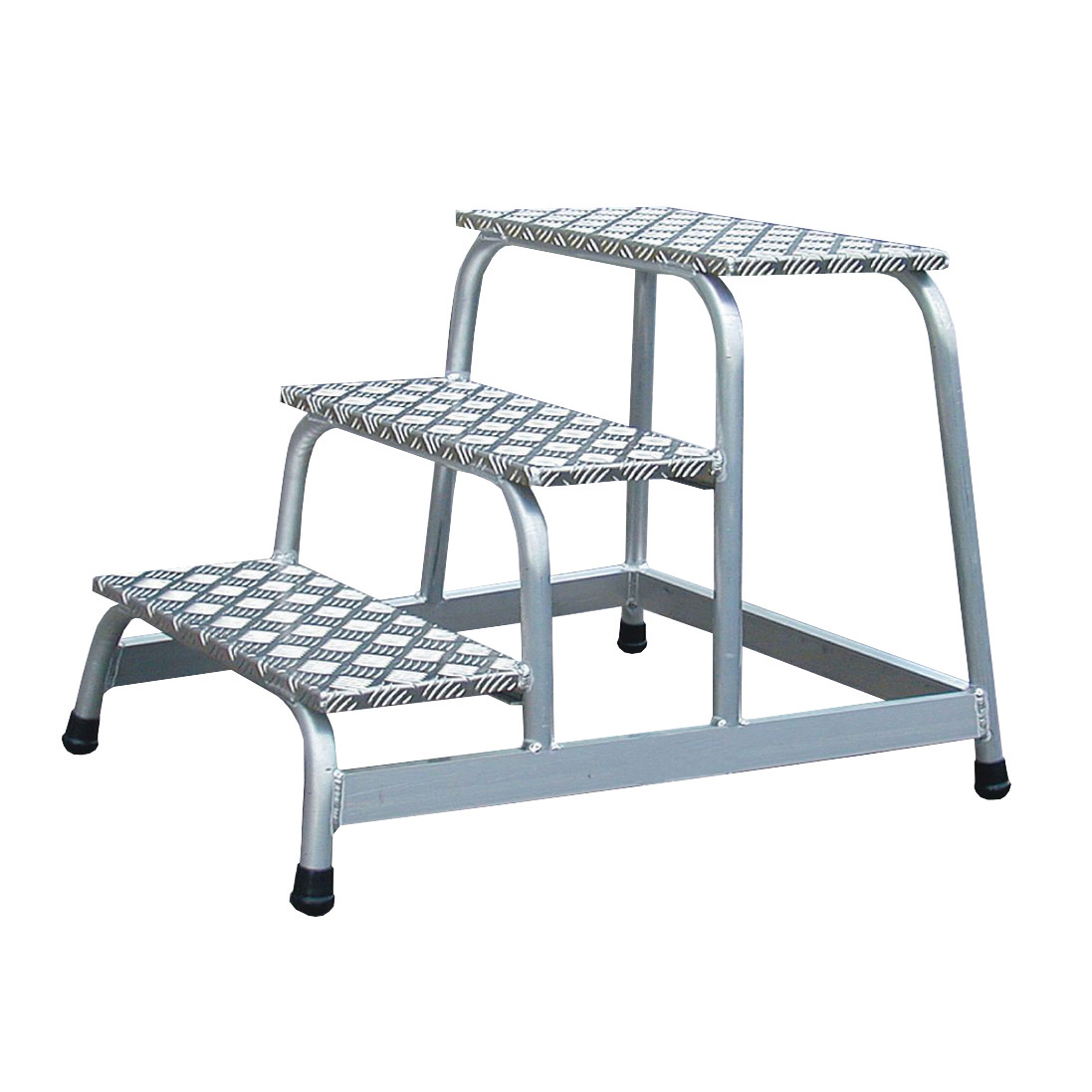 Ladders Platform Light Duty Slip Resistant Aluminium 1 Tread W520xD305xH200mm