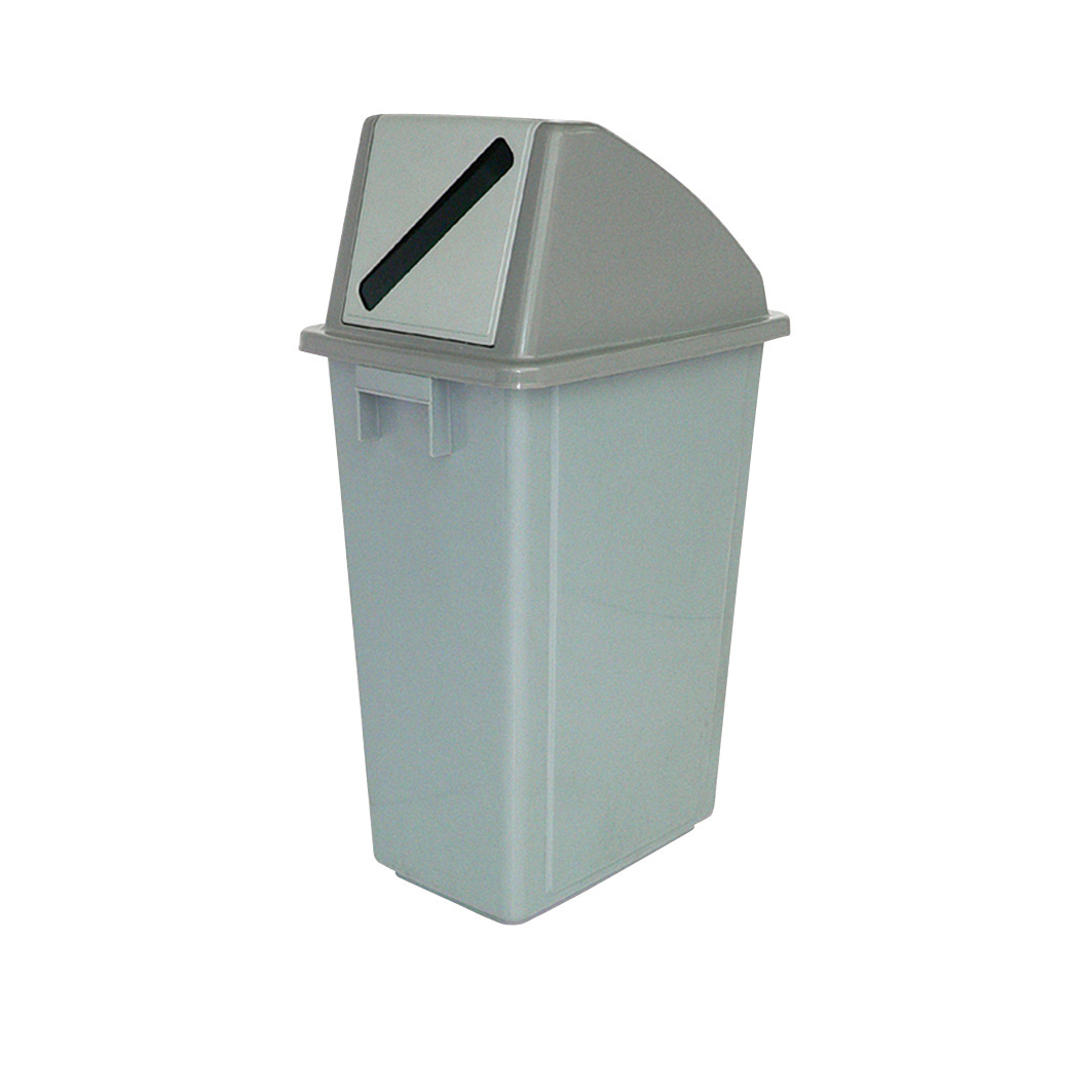 Recycling Bin for Paper and Card 60 Litre Capacity with Paper Slot 330x480x1190mm Grey