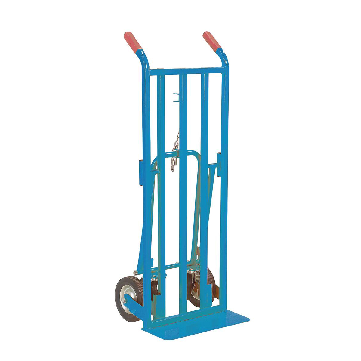 Trolleys Hand Truck 3 Position Steel Frame Double Rear Castors Capacity 200kg Blue