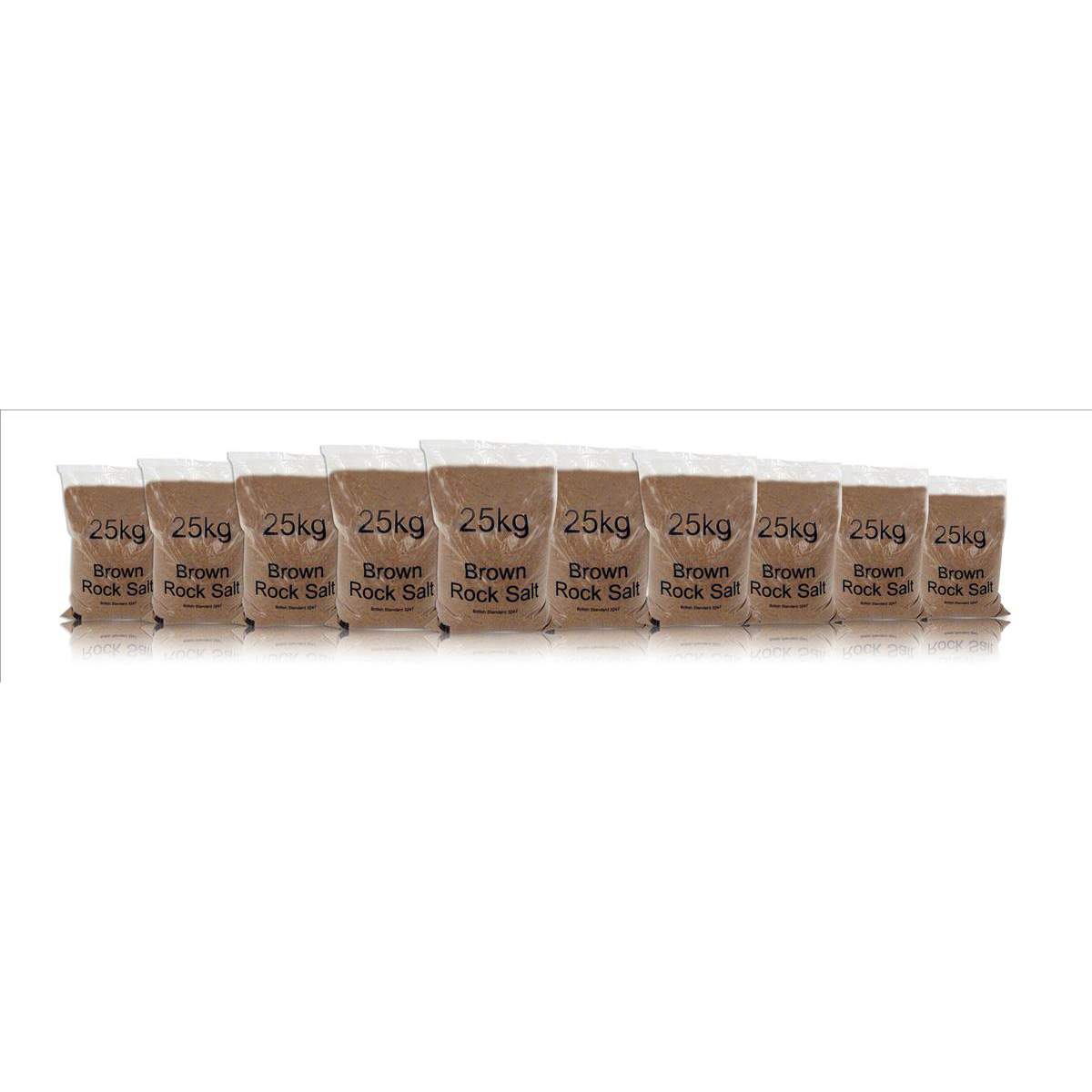 Rock Salt De-icing 25kg Brown [Packed 10]