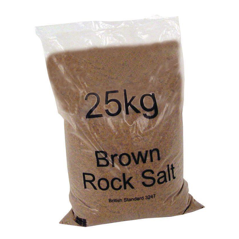 De-Icing Supplies Rock Salt De-icing 25kg Brown [Packed 40]
