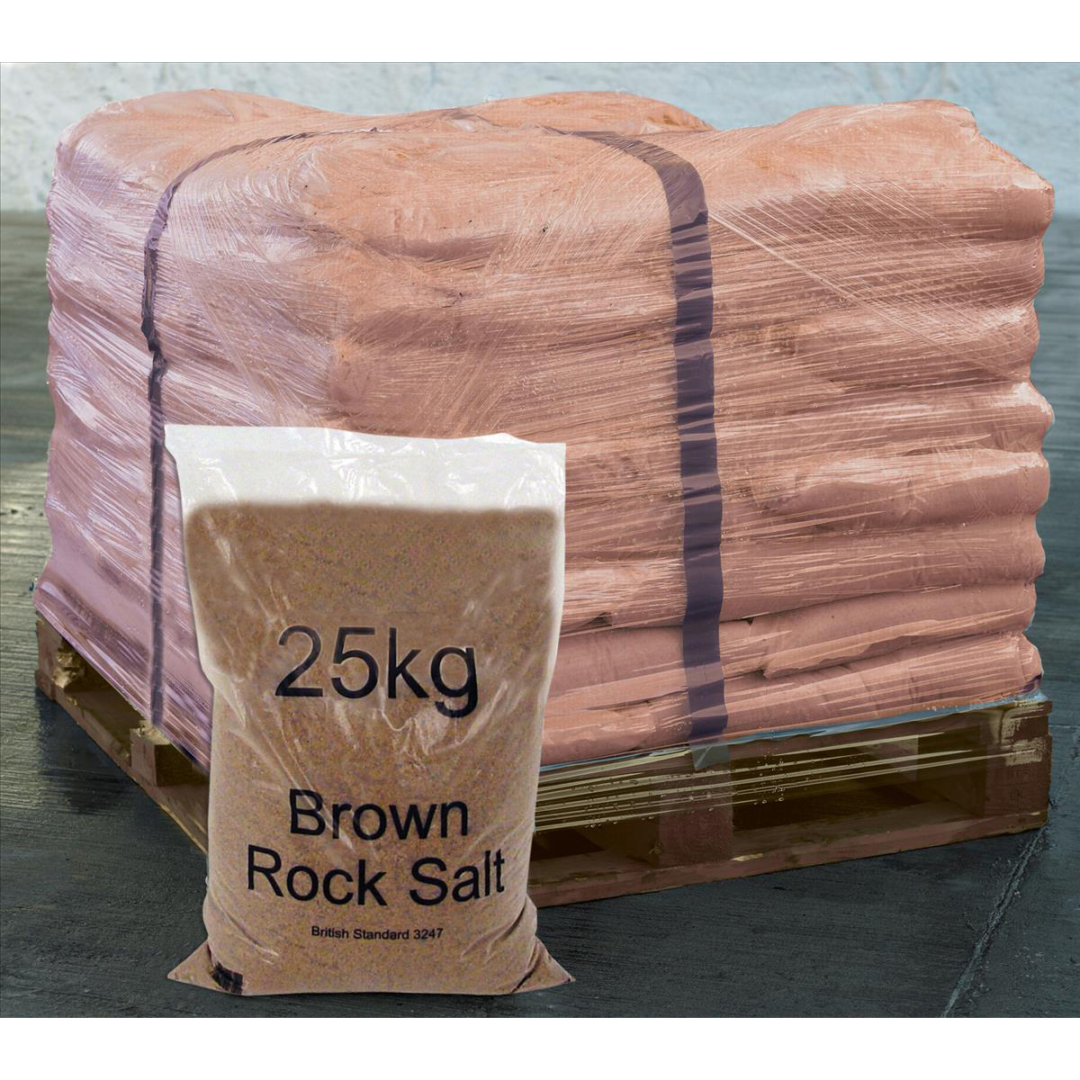 Image for Rock Salt De-icing 25kg Brown [Packed 40]
