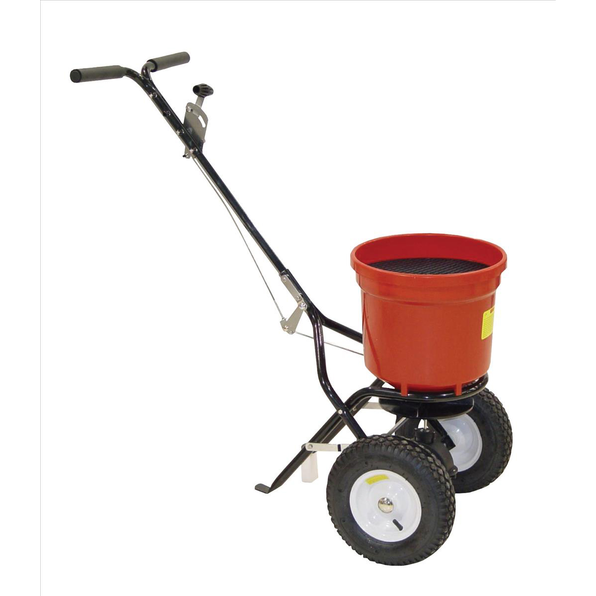 De-Icing Supplies Salt Spreader Coverage 3m Capacity 22kg Pneumatic Tyres Rain Cover Hopper Screen