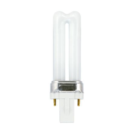 GE 7W 2pin Biax Plug-in G23 CompFluores Bulb 425lm 47V EEC-A CoolWhite Ref37660 Up to 10Day Leadtime