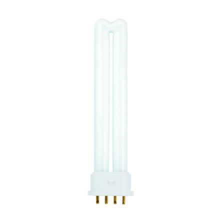 GE 9W 4pin Biax Plug-in 2G7 CompFlrBulb Dimm 600lm 60V EEC-Aplus ExtWrmWhite Ref37710Upto 10DayLeadtime