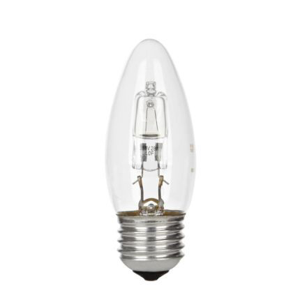 GE 30W Decor HALO Candle E27 Halogen Bulb Dimmable 405lm EEC-D Ref98391 Up to 10 Day Leadtime