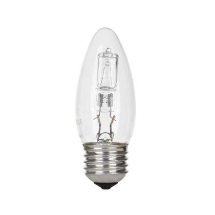 GE 42W Decor HALO Candle E27 Halogen Bulb Dimmable 630lm EEC-D Ref76568 Up to 10 Day Leadtime