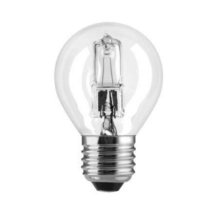 GE 42W Decor HALO Spherical E27 Halogen Bulb Dimmable 630lm EEC-D Ref76547 Up to 10 Day Leadtime