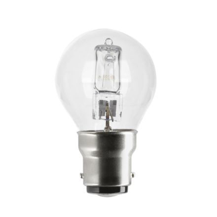 GE 20W Decor HALO Spherical B22 Halogen Bulb Dimmable 235lm EEC-D Ref98386 Up to 10 Day Leadtime