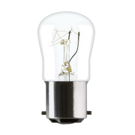 Tungsram 15W Sewing machine B15d Pygmy Incandescent Bulb 85lm Dim 240V Ref31831 Up to 10 Day Leadtime