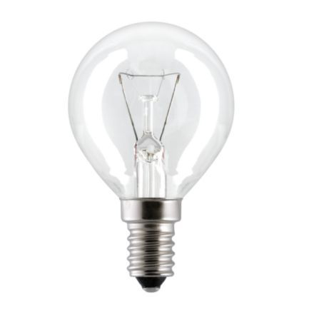 GE 40W E14 Oven Spherical Incandescent Bulb Dimmable 320lm 240V Ref93494 Up to 10 Day Leadtime