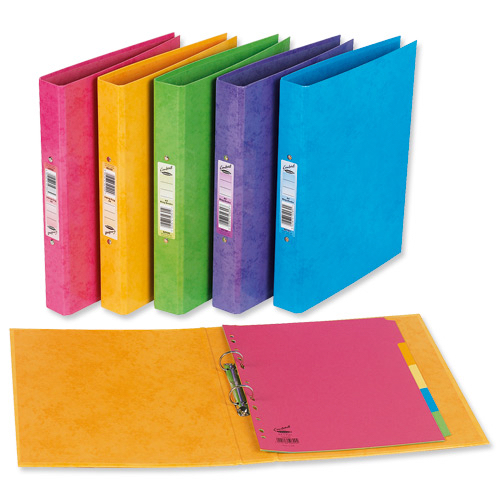 Concord Contrast Ring Binder Laminated 2 O-Ring Capacity 25mm A4 Lime Ref 82195 [Pack 10]