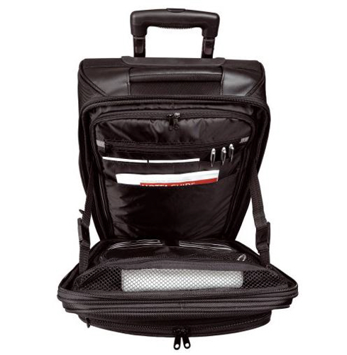 Lightpak Executive Overnight Trolley with Laptop Compartment 15in Nylon Black Ref 46109