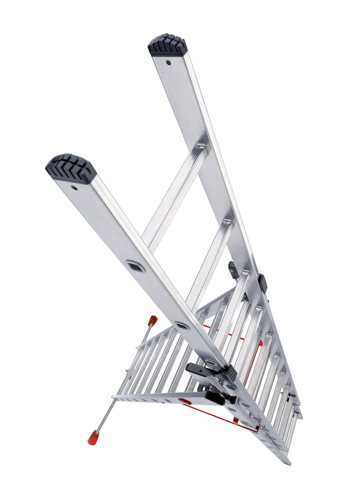 Combi Ladder 3 Section Capacity 150kg Rungs 2x9 and 1x8 for H6.7m 20.7kg