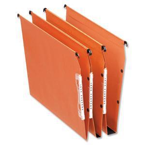 Bantex Linking Lateral File Kraft 210gsm Square-base 30mm Capacity W330mm Orange Ref 100330744 [Pack 25]