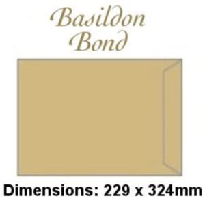 Basildon Bond Envelopes Pocket Peel and Seal 90gsm Manilla C4 Ref C80191 [Pack 250]