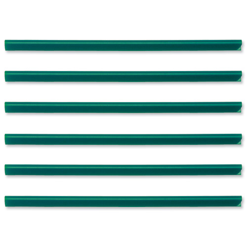 Spine Bars for 60 Sheets A4 Capacity 6mm Green [Pack 50]