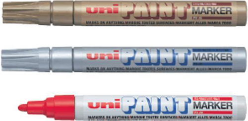 uni Paint Marker Bullet Tip Medium Point Px20 Line Width 2.2-2.8mm Yellow Ref 545509000 [Pack 12]