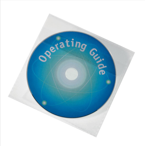 Durable CD/DVD Pocket Protective Polypropylene with Flap Ref 5245/19 [Pack 25]