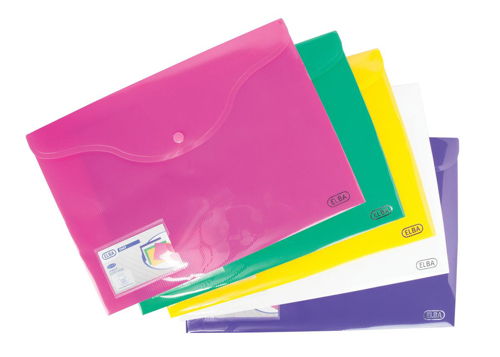 Elba Bright Identity Wallets A4 Assorted Colours Ref 205831 [Pack 5]