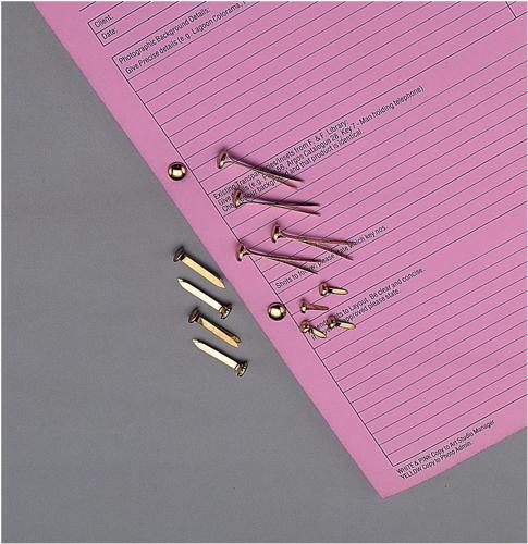Paper Fasteners Brassed Steel 13mm [Pack 200]