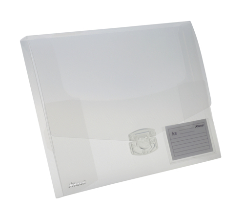 Rexel Ice Document Box Polypropylene 25mm A4 Translucent Clear Ref 2102027 [Pack 10]