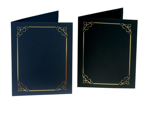 Certificate Covers Linen Finish Heavyweight Card Stock 240g Blue [Pack 5]