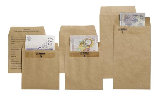 New Guardian Wage Envelopes Press Seal Medium Printed Pocket Manilla 108x102mm [Pack 1000]