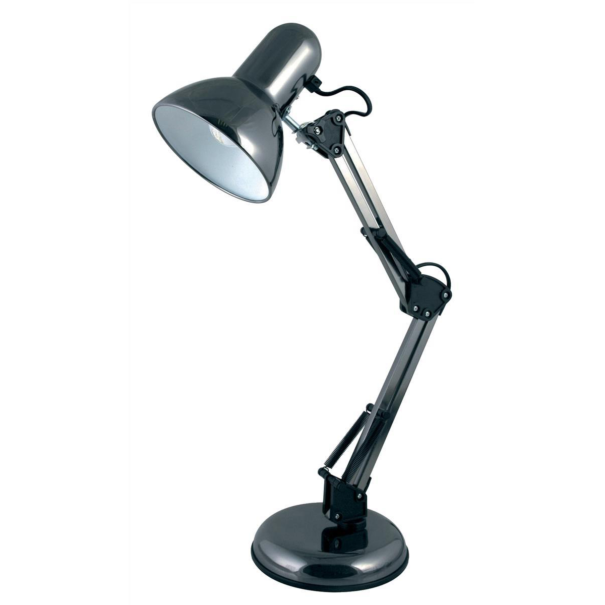 Desk Lamp Adjustable Arm 35W Maximum Height of 520mm Base Size of 150x150x40mm Black