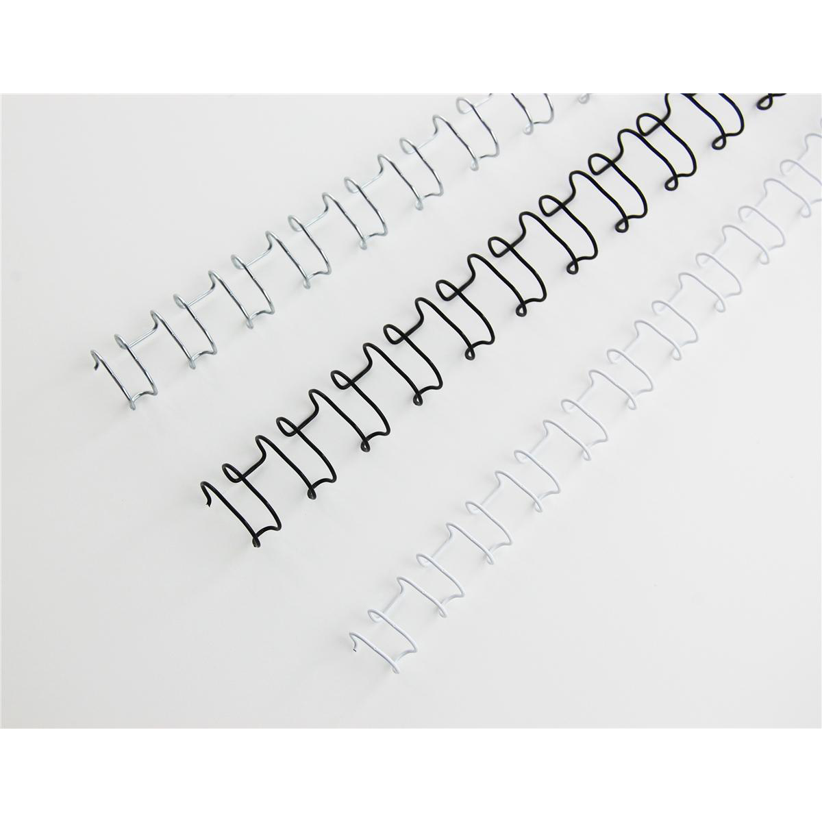 GBC Binding Wire Elements 21 Loop 55 Sheets 6mm Black Ref IB165023 Pack 100