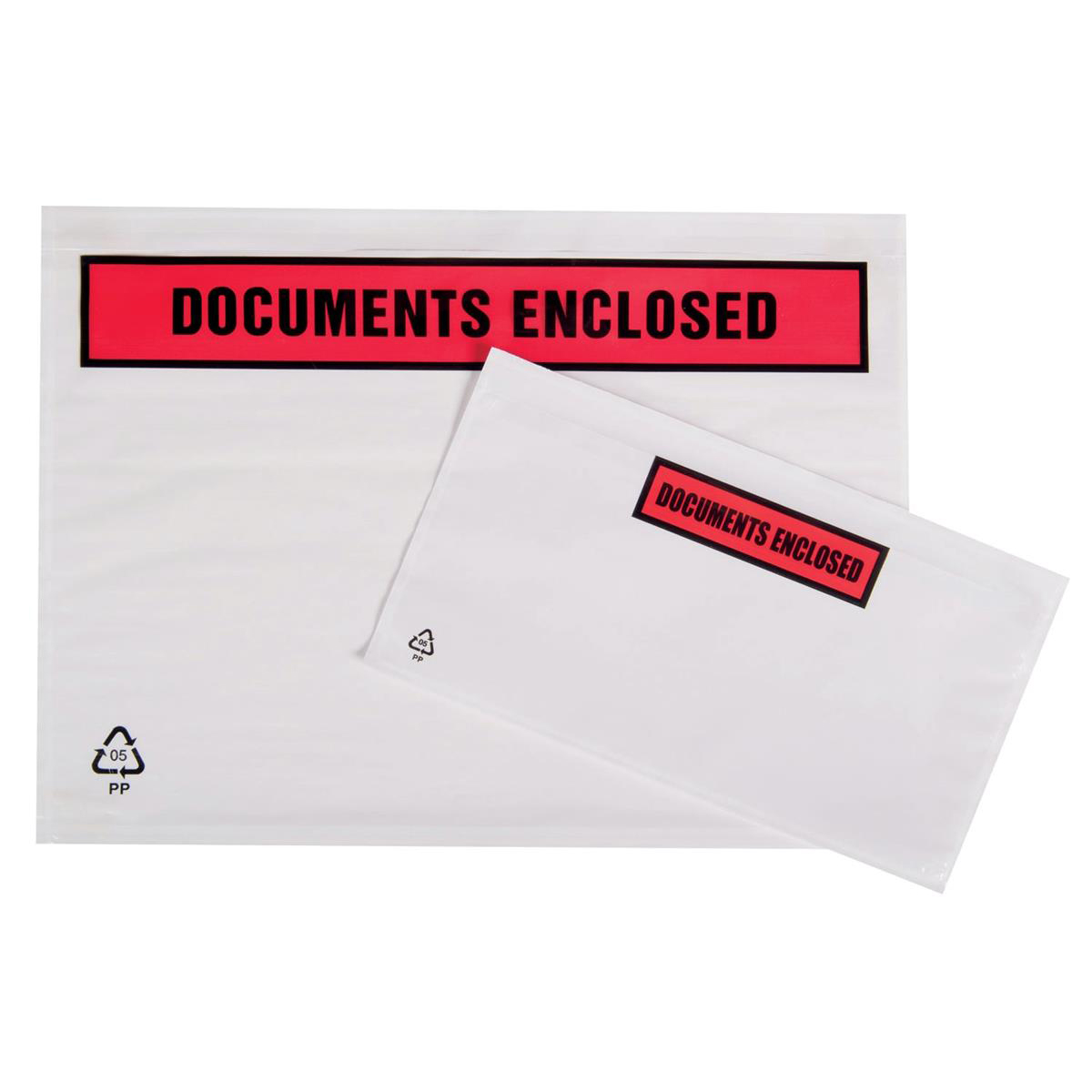 Documents Enclosed Packing List Document Wallet Polythene Documents Enclosed Printed Text A7 113x100mm White Pack 1000