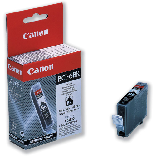 Canon BCI-6BK Inkjet Cartridge Page Life 2000pp Black Ref 4705A002