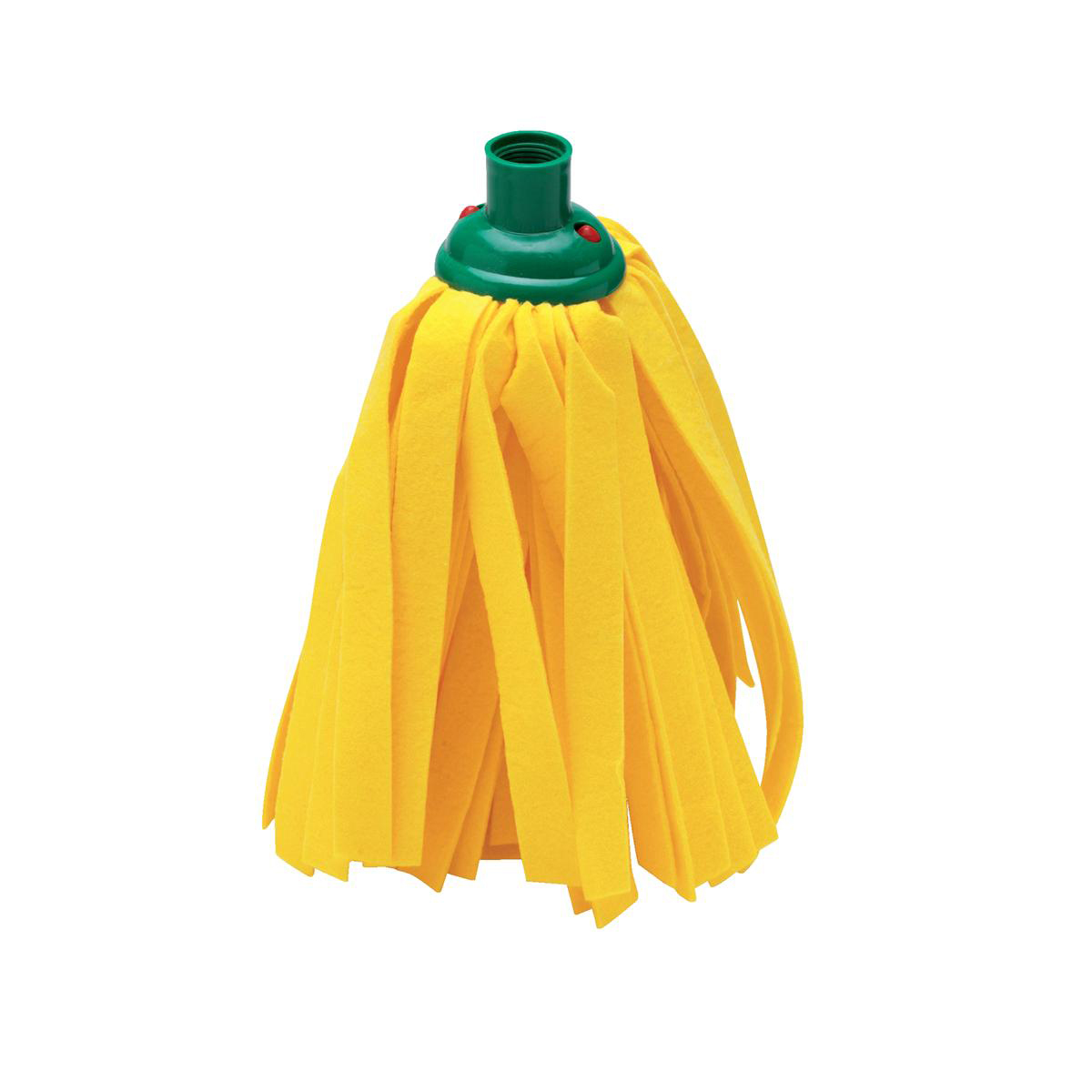 Mop heads Addis Cloth Mop Head Refill Thick Absorbent Strands and Green Socket Ref 510524